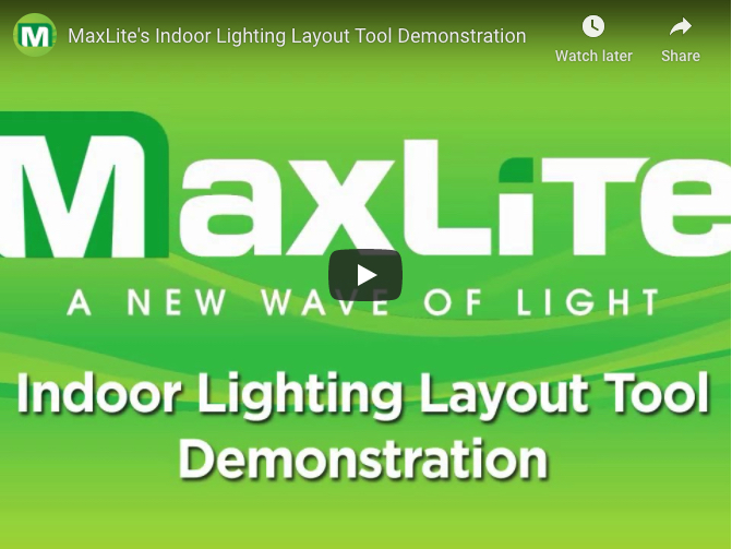 maxlite lighting layout